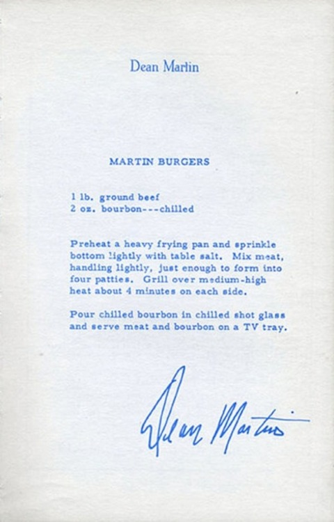 Dean Martin Burger Recipe