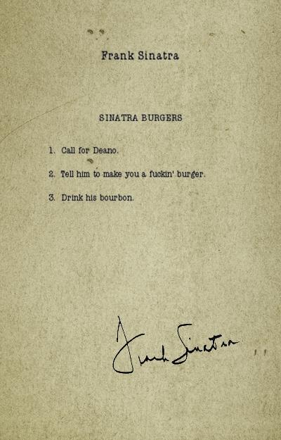 Frank Sinatra Burger Recipe