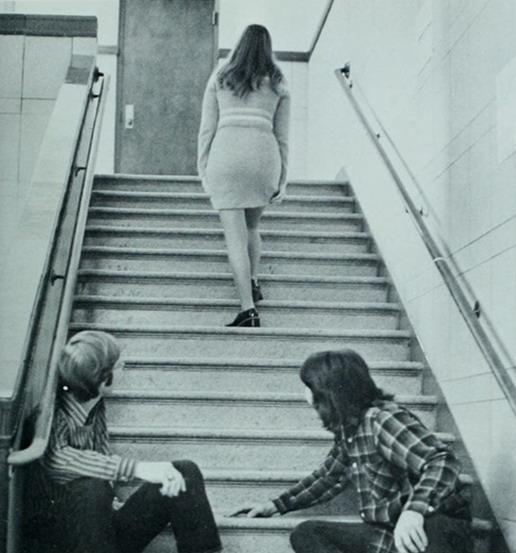 Escalator upskirt thigh high boots amp tartan skirt - 3 1