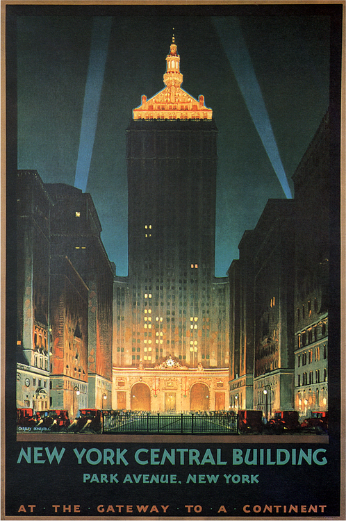 Art Deco poster, NY