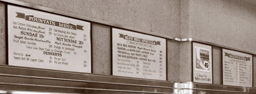 blue bell menu