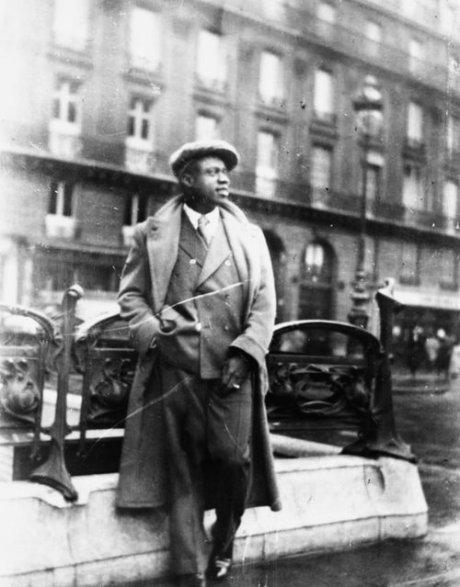 Louis Armstrong at the Paris Metro, c. 1934.