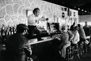 Man dancing on the bar Atlantis Bar Coney Island NY 1980