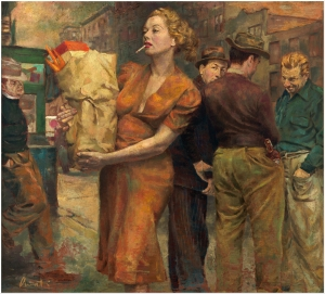 street scene - James Avati (1912 - 2005)