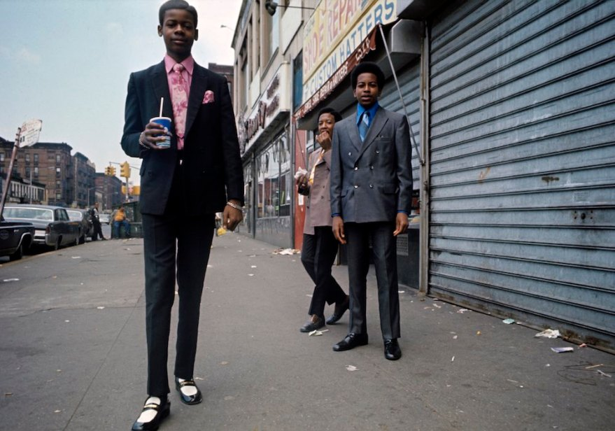 Boys looking too sharp in Harlem in 1970.