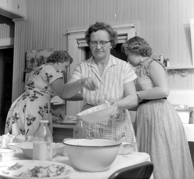 In the kitchen1953