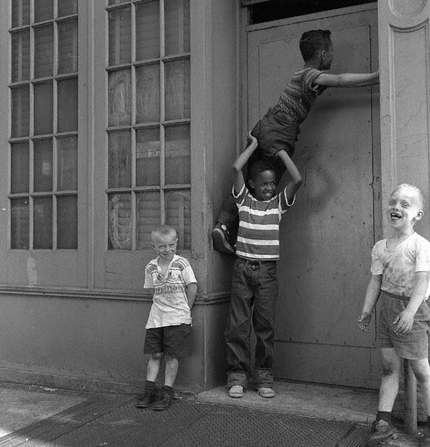 Kids playing williamsburg brooklyn 1959