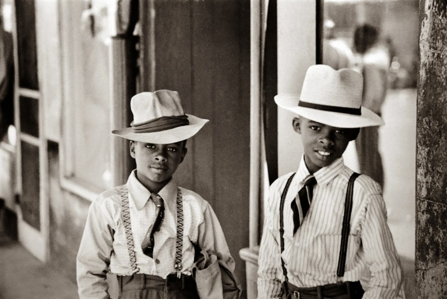 Two sharp dressed young men in Natchez Mississippi, 1947. [Photo by Henri Cartier-Bresson]