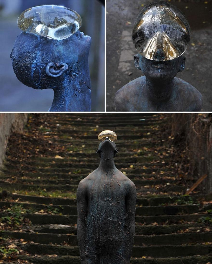 Raindrop-statue-Nazar-Bilyk-Raindrop-Ukraine-most-creative-sculpture-around-the-world