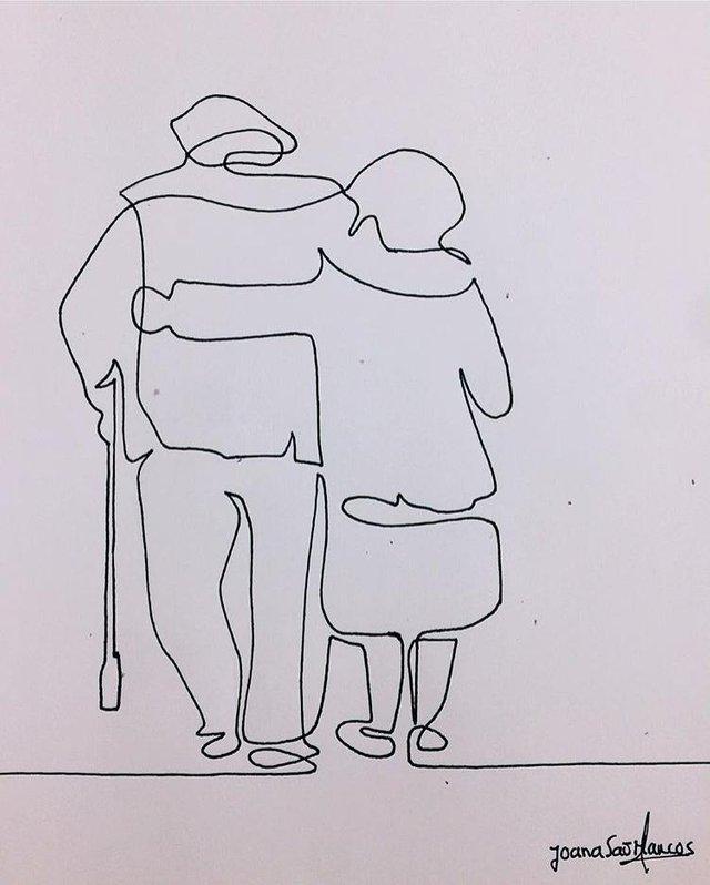 joana são Marcos, ink and paper, 2018