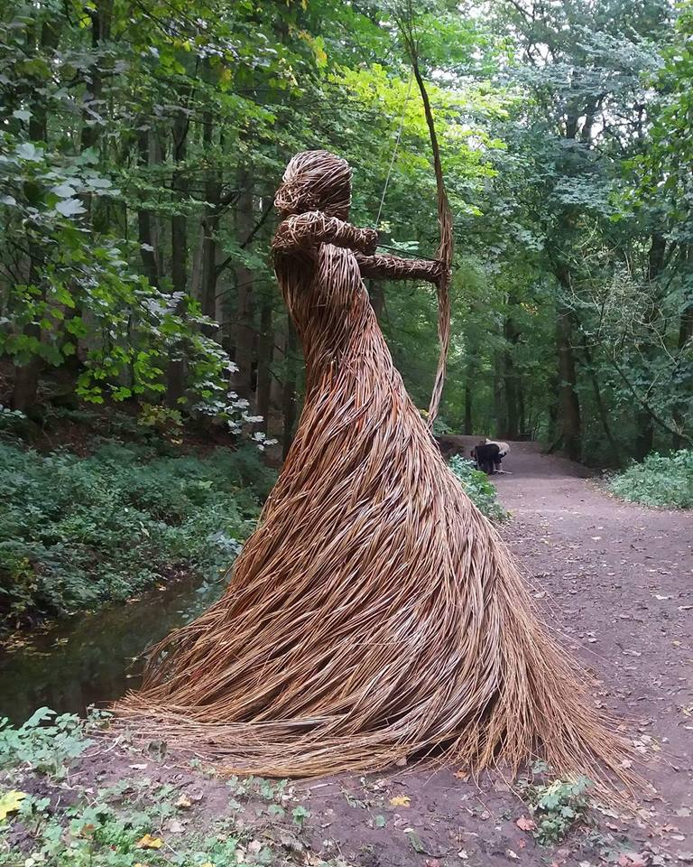 'The Huntress of Skipton Castle Woods' scaling 9ft