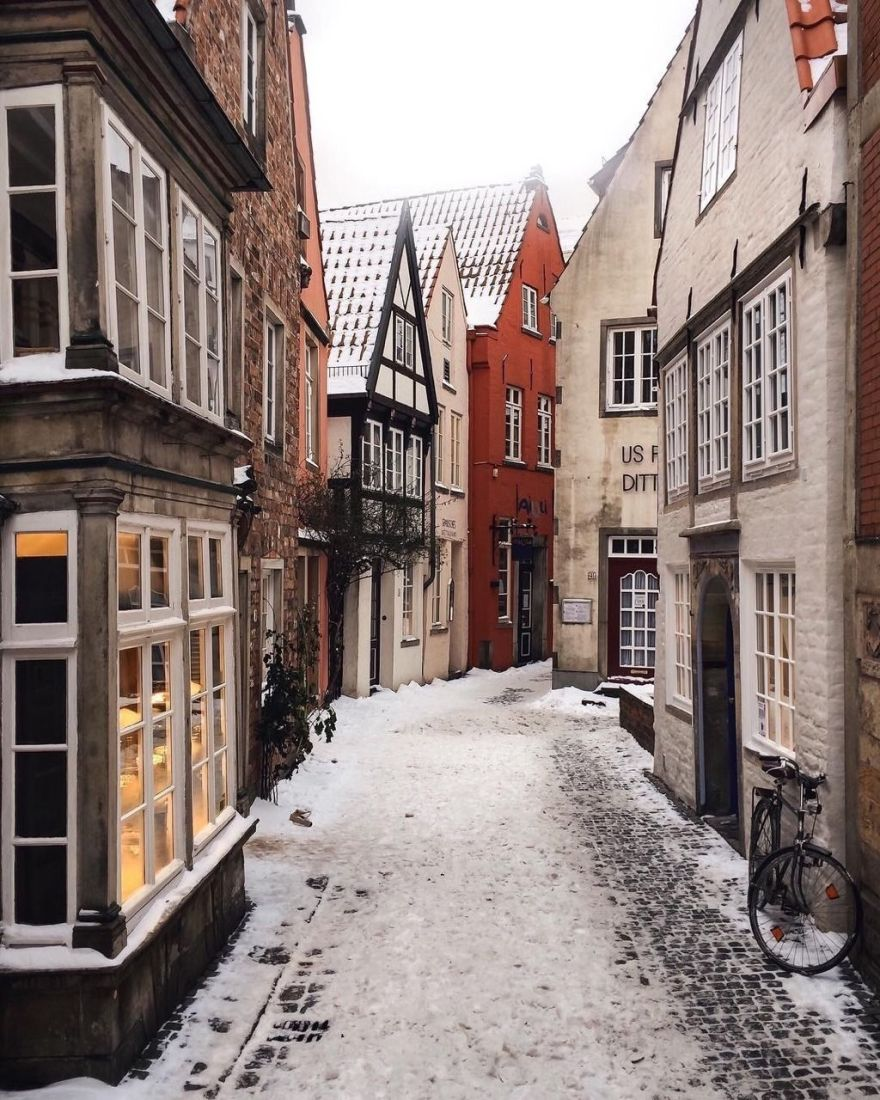 Winter in Bremen, Germany