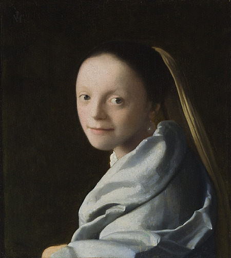 johannes vermeer study of a young woman (ca.1665–67)