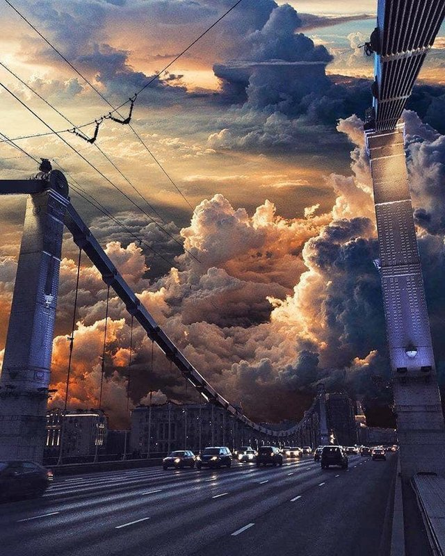 An apocalyptic sunset over Moscow credit Nick Yuryev