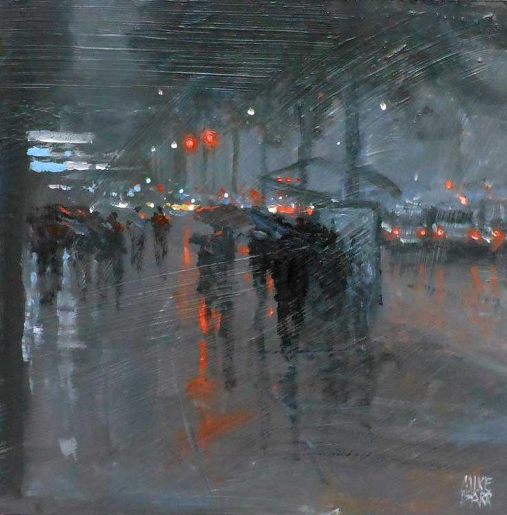 Deluge, Adelaide, Mike Barr, Oil on Panel, 2011
