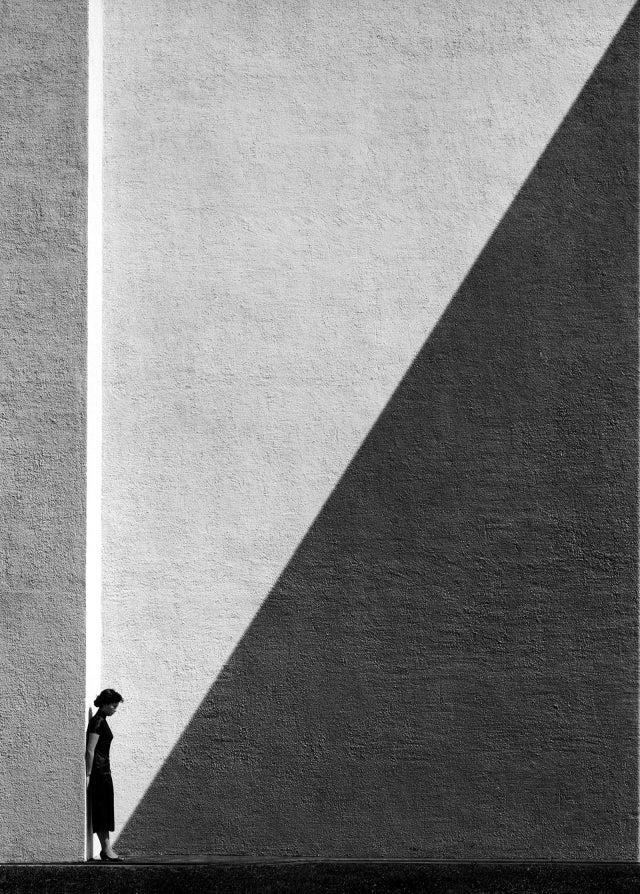 Approaching Shadow, Fan Ho, Photograph, 1954